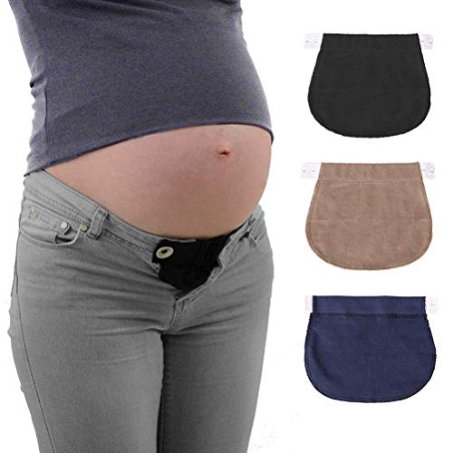 Rmeet Extensores de Cintura,3 Pack Ajustable Extensor de Cintura Elásticos Extensor de Cierre de Botón para Pantalones Vaqueros Juego