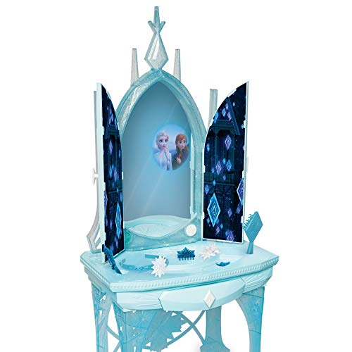 "Disney Frozen 2 Elsa's Enchanted Ice Vanity, Includes Lights, Iconic Story Moments & Plays ""Vuelie"" and ""Into the Unknown"" For Ages 3+"