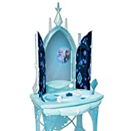 """Disney Frozen 2 Elsa's Enchanted Ice Vanity, Includes Lights, Iconic Story Moments & Plays """"Vuelie"""" ..."""