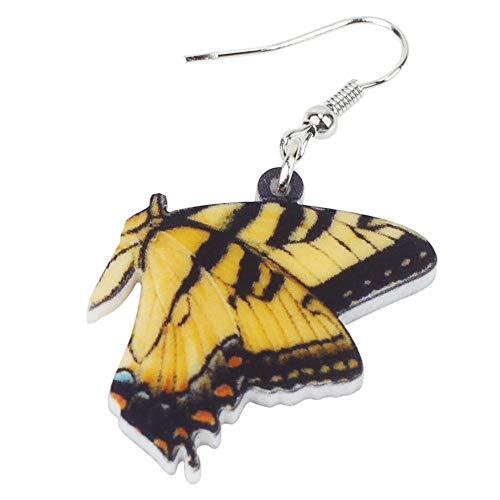 XUBB Acryl Schmetterling Ohrringe Big Drop Symmetrischer Insektenschmuck Für Frauen Mädchen Damen Teen Geschenk