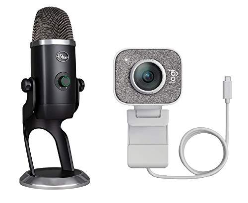 Oferta de Logitech StreamCam, Cámara Web con USB-C para Streaming de vídeo y creación de Contenido, Vídeo Vertical Full HD y Micrófono Blue Yeti X, USB para grabación y Streaming, PC y Mac, Blanco