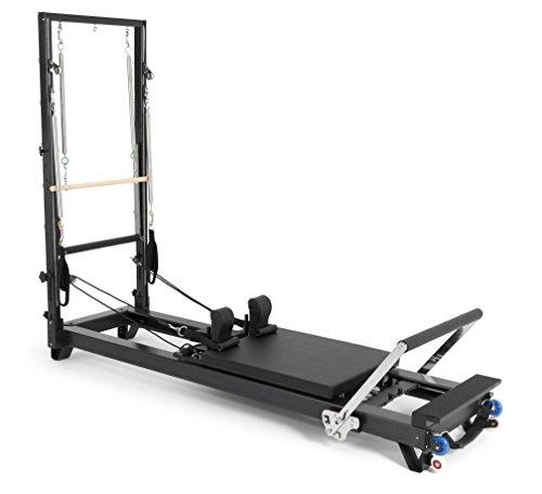 ELINA PILATES. Reformer DE Aluminio HL 2 con Torre – Máquina Pilates para Profesionales. 27 cm Altura de Cama. Reformer desarrollado por técnicos Expertos en Pilates de Todo el Mundo.