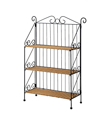 4D Concepts 3-Tier Bookcase, Wicker/ Metal