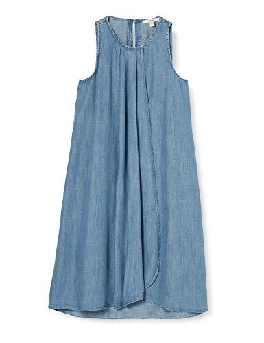 ESPRIT Damen 050EE1E308 Kleid, 903/BLUE Light WASH, M