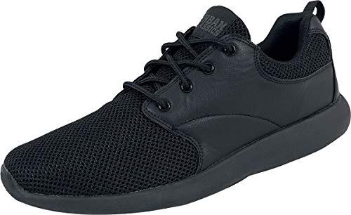 Urban Classics Damen und Herren Light Runner Shoe, Low-Top Sneaker für Damen und Herren, Sportschuhe mit Schnürung, Schwarz, Größe 39