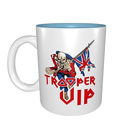 Iron Maiden - Tazas de cerámica para té de café y leche – Taza de la mañana el mejor regalo para bebidas por la mañana, bodas, cumpleaños, día del padre