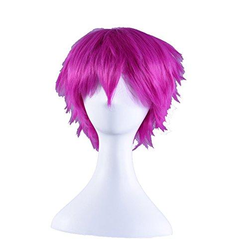 etruke Rose Anime court cheveux Parti Naruto Cosplay Perruque
