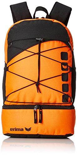 erima Tasche Multifunktionsrucksack mit Bodenfach, Orange/Schwarz, 48.5 x 36 x 3.5 cm, 34 Liter, 723365