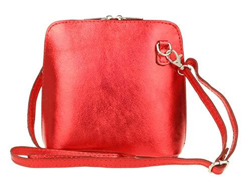 Girly HandBags Umhängetasche aus Leder mit Metallic-Echtem Leder
