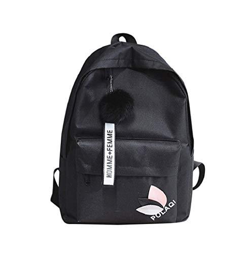 Hot! Schulrucksack Mädchen Teenager Einfarbig Schultasche Segeltuch Rucksack Canvas Schulrucksäcke wasserdichte Schulrucksack Backpack Daypacks für Damen Herren TWBB