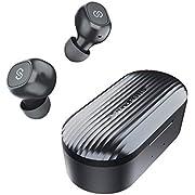 SoundPEATS True Wireless Earbuds 5.0 Bluetooth Headphones in-Ear Stereo Wireless Earphones with Microphone Binaural Calls, One-Step Pairing, Total 35 Hours, Upgraded TrueFree Plus