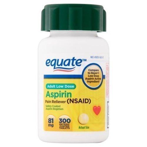 Equate - Aspirin 81 Mg, Adult Low Strength Aspirin Regimen Low Dose 300ct