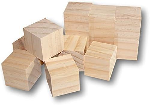 a la venta DIY Craft Wood Blocks 1.5 inches inches inches - Set of 12 by FriendShip Shop  excelentes precios