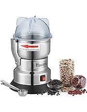 Huanyu 500 g elektrisk kornkvarn 200 g/h pulverslipmaskin swing-typ kvarn pulverizer för ört kryddpeppar kaffebönor