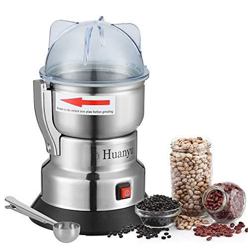 Huanyu 550w Getreidemühlen Elektrische Getreidemühle Multi-Zerkleinerer für Kaffeebohnen Gewürz Pfeffer Kräuter Nüsse Medizin (550w 300g)