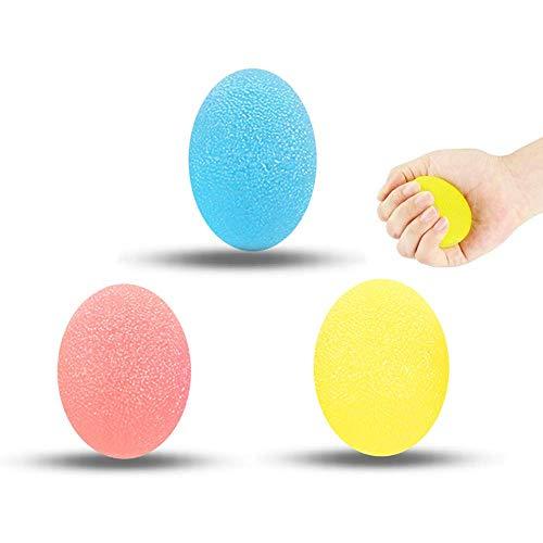 Balle Anti-Stress, Balle Anti Stress Enfant/Adulte, Balle Stress Muscleur de Main, Boule Antistress, Balle reeducation Main et Exercice de Renforcement de la Main, Lot de 3