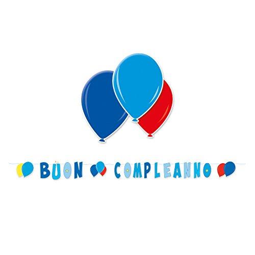 Big Party Guirnalda azul feliz cumpleaños globos