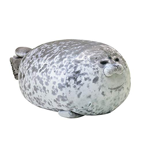 EUBUY Cute Blob Seal Pillow, Chubby Seal Plush Hug Pillow Soft Stuffed Animal Toy