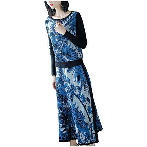 BINGQZ Cocktail Jurken Nationale stijl vrouwen herfst shirt met lange mouwen split rok jurk pak vrouwen mode tweedelige pak