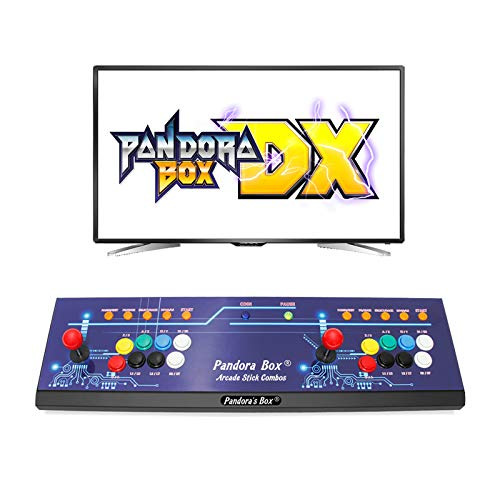 Wisamic Real Pandora's Box DX Arcade Game Console: Up to 4 Players, Save Games Progress, Accurate Game Searching, Add Additional Games, Support PS3 PC TV, No Games Included (8 Buttons)