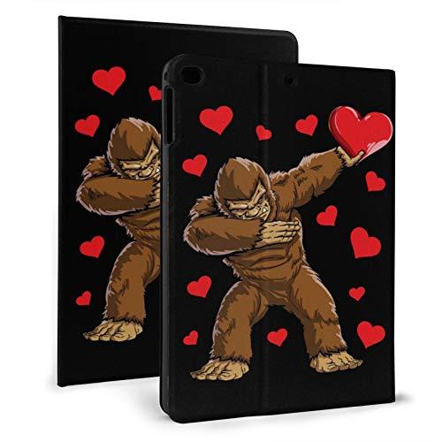 Dabbing bigfoot love heart Slim Lightweight Smart Shell Stand Cover Case for iPad mini4/5 7.9' Generation,Auto Wake/Sleep