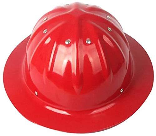 HongTong Cascos Casco de Seguridad con el Casco Ajustable, la construcción del Casco Sombrero Duro de Aluminio, de Color Naranja (Color : Red)