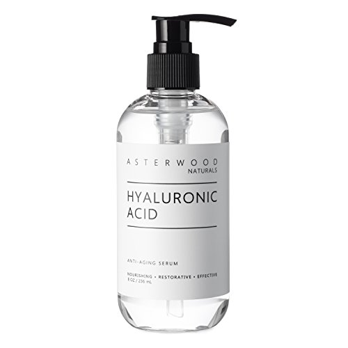 Asterwood Naturals Pure Hyaluronic Acid Serum for Face; Plumping, Anti-Aging, Hydrating Facial Moisturizer Product – A Hero Ingredient; Fragrance Free, Paraben Free, 237ml/8 oz