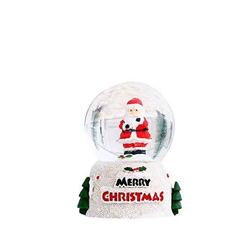 Zoomarlous Bola de cristal de Navidad, bola de nieve, bola de Navidad, bola de cristal para fotografía de decoración de escritorio, Papá Noel o muñeco de nieve