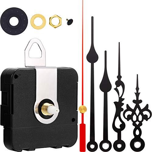 2 Paar Hände Quartz Uhrwerk DIY Wanduhr Bewegungsmechanismus Clock Ersatzteile Ersatz (Schaftlänge 9/10 Zoll/ 23 mm)