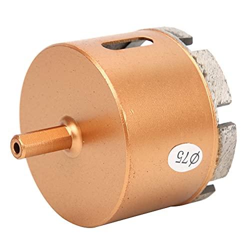 Broca, broca multifuncional Práctica para taladradoras para taladros manuales para ladrillo vitrificado para taladros de banco(75 mm)