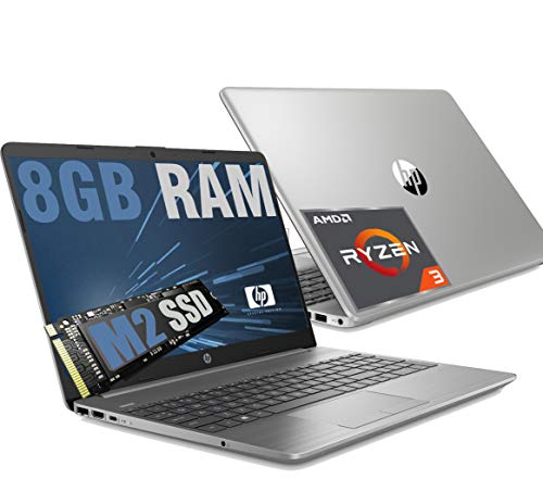 HP 255 G8 Silver Slim Portátil Full HD 15.6' CPU AMD Ryzen 3 3250U hasta 3,5 GHz / RAM 8 GB DDR4 / SSD M2 Nvme 256 GB / Radeon / HDMI RJ-45 Wifi Bluetooth USB Type-C /Windows 10 64 bits.