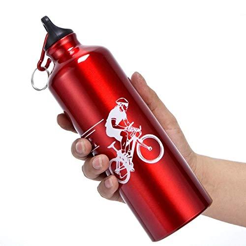 700ML Tamaño portátil Aleación de Aluminio Duradera Ciclismo al Aire Libre Camping Botella de Agua Bicicleta Bicicleta Botella de Bebida Deportiva Botella - Beige, A3