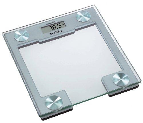 Taurus - Báscula Baño Vulcano, Peso 150Kg, Electronica, Plataforma De Cristal De Seguridad, Pilas De Litio Incluidas De Larga Duracion