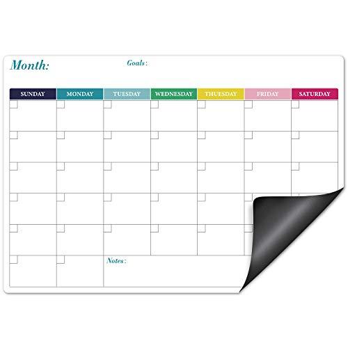 Eono Pizarra Nevera Magnetica, Calendario Magnetico, Organizador Semanal Magnetico, 42,8 Cm x 34 Cm