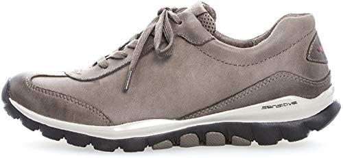Gabor Gabor Damenschuhe 76.965.32 Damen Sneaker, Schnürer, Schnürhalbschuhe, in Übergrößen, mit Optifit- Wechselfußbett Braun (Fango), EU 6