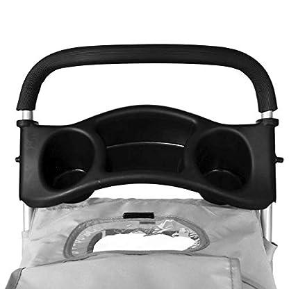 Saving Plus Pet Travel Stroller Dog Cat Pushchair Pram Jogger Buggy Trolley Puppy Jogger Folding Carrier With 4 Wheels (Grey) 4