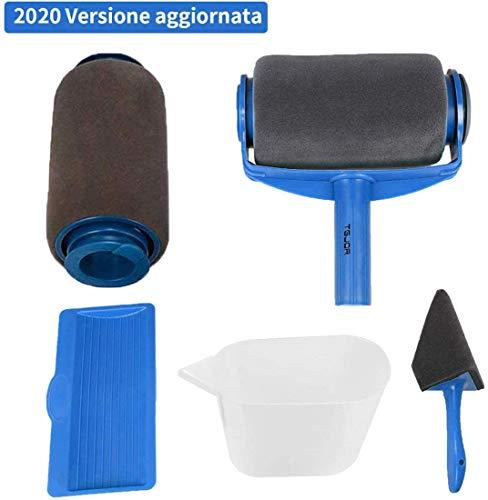 Rullo per Pittura con Serbatoio Professionale, Rottay 5 Set di Kit Rulli per Pittura, Blu [2020 Upgraded]