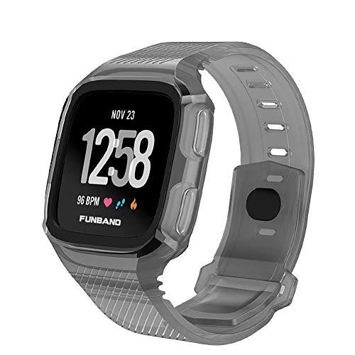 FunBand Correa para Fitbit Versa, Edición Especial Soft Silicona Deportes Recambio de Pulseras Ajustable Reemplazo Accesorios para Reloj Fitbit Versa/Versa 2/Versa Lite Pulsera de Actividad