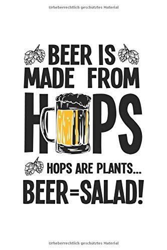 Notizbuch: Bier Salat Gemüse Hopfen Malz Gesund Witz Geschenk 120 Seiten, 6X9 (Ca. A5), Punktraster