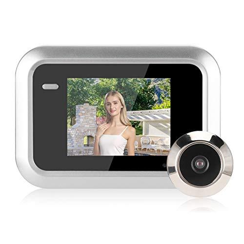 Visor de puerta inteligente de 2.4 pulgadas, visor de mirilla digital inteligente, interfono con cámara oculta, pantalla LCD TFT, gran angular de 145 °, grabación de cámara HD de 0.3MP