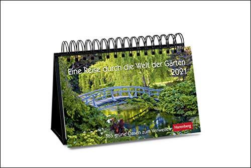 Eine Reise durch die Welt der Gärten Premiumkalender 2021 - Tagesabreißkalender zum Aufstellen - Tischkalender mit hochwertigen Farbfotografien - in ... 23 x 17 cm: 365 grüne Oasen zum Verweilen