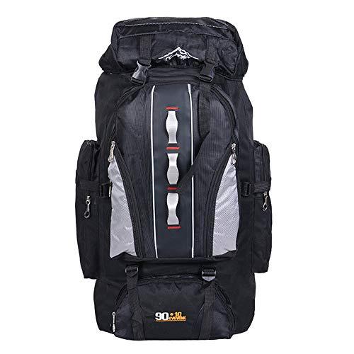 100L Leichte Packable Reiserucksack Wanderrucksack, Multifunktionale Tagesrucksack, Morbuy Faltbare Camping Trekking Rucksäcke, Utra Leicht Outdoor Sport Rucksäcke Tasche (100L,Schwarz)