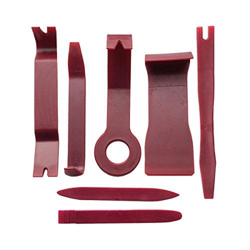 WINOMO Ausbau-Werkzeug für Auto-Audio Ziehen Polster von Fahrzeugen (rot)–7-teilig