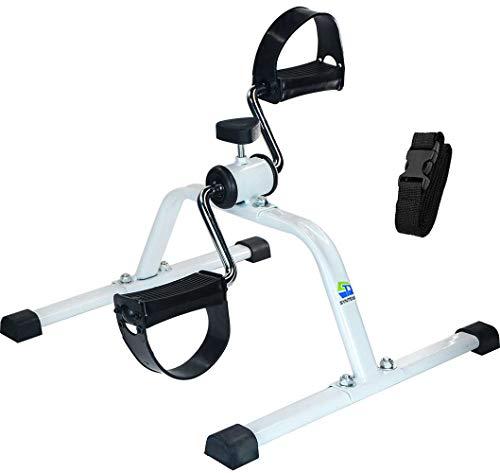 Synteam Mini bicicleta estática compacta pedal ejercitador debajo de la bici de bajo impacto máquina de ejercicio para brazos piernas