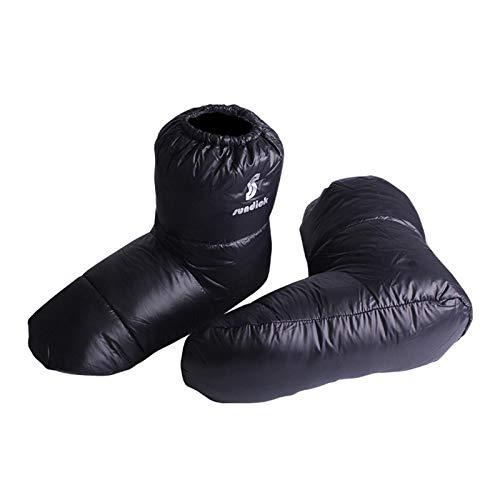 Calda calzino alto in piuma, unisex, per sacco a pelo, per campeggio, per interni e caldi, leggera