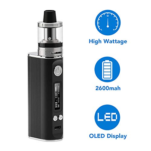 JOMO TECH Sigaretta Elettronica, Sigaretta elettronica Svapo kit Lite 80w Top Fill Atomizzatore 2.0ml Potenza regolabile 5.0-80W No nicotina, No E liquido
