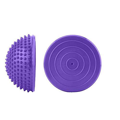 Pelota fitness 2pcs de punta Yoga La mitad de la bola del pie bolas de masaje 16cm erizo PVC Hemisferio física Pilates de ejercicio físico habilidades de equilibrio de formación ( Color : Purple )