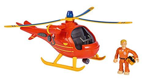 Simba 109251077 Feuerwehrmann Sam Hubschrauber Wallaby mit Figur