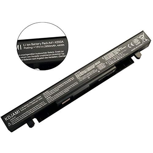 MMS Batterie portable A41-X550A pour ASUS X450CA X450EA X550 X550C X550D X552CL X552EA FX50JK F550C R510CA R510 R510C R510CA R510CC R510E R510J R510JK R510L R510LB R510LN R510V R510VC (15 V 2950 wAh)