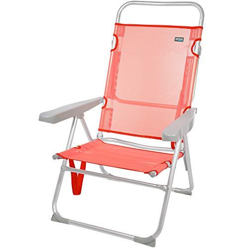Aktive 62630 - Silla alta reclinable aluminio, coral